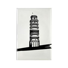 """The Tilting Earth of Pisa"" Rectangle Magnet (100"