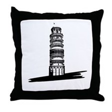 """The Tilting Earth of Pisa"" Throw Pillow"