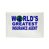 World's Greatest Insurance Ag Rectangle Magnet