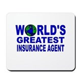 World's Greatest Insurance Ag Mousepad