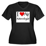 I Heart My Astacologist Women's Plus Size V-Neck D