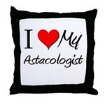 I Heart My Astacologist Throw Pillow
