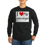 I Heart My Astacologist Long Sleeve Dark T-Shirt