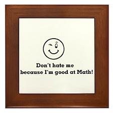 Good At Math Framed Tile