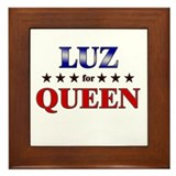 LUZ for queen Framed Tile