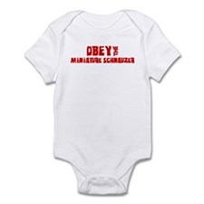 Obey the Miniature Schnauzer Infant Bodysuit