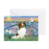 Lilies / Papillon (f) Greeting Cards (Pk of 10)