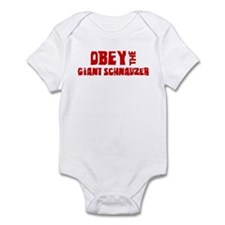 Obey the Giant Schnauzer Infant Bodysuit