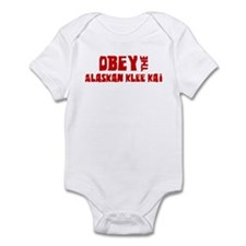 Obey the Alaskan Klee Kai Infant Bodysuit