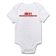 Obey the Entlebucher Mountain Infant Bodysuit