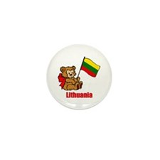 Lithuania Teddy Bear Mini Button (100 pack)