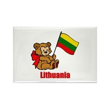 Lithuania Teddy Bear Rectangle Magnet
