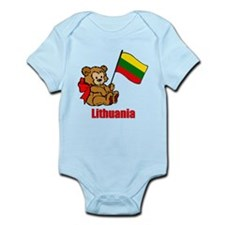 Lithuania Teddy Bear Infant Bodysuit