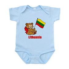 Lithuania Teddy Bear Infant Bodysuit