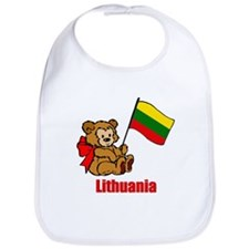 Lithuania Teddy Bear Bib