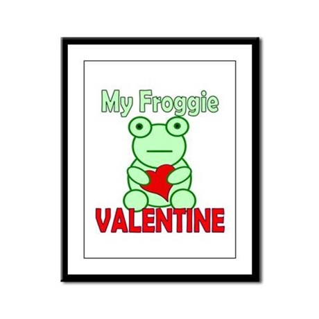 Frog Valentine Framed Panel Print