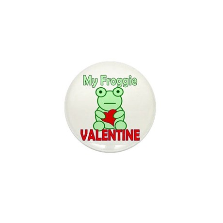Frog Valentine Mini Button (10 pack)