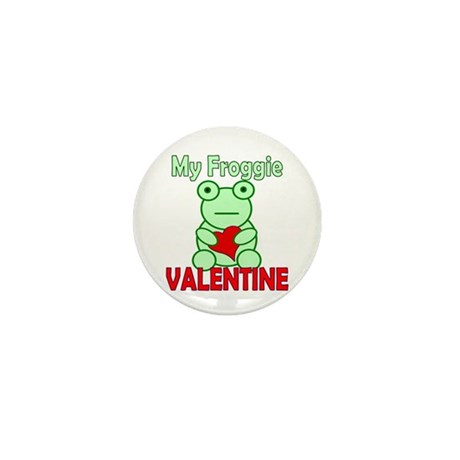 Frog Valentine Mini Button