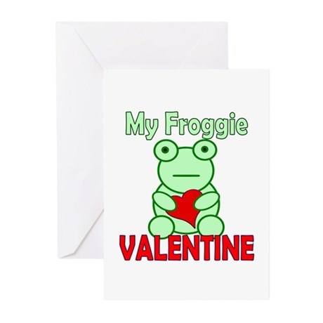 Frog Valentine Greeting Cards (Pk of 10)