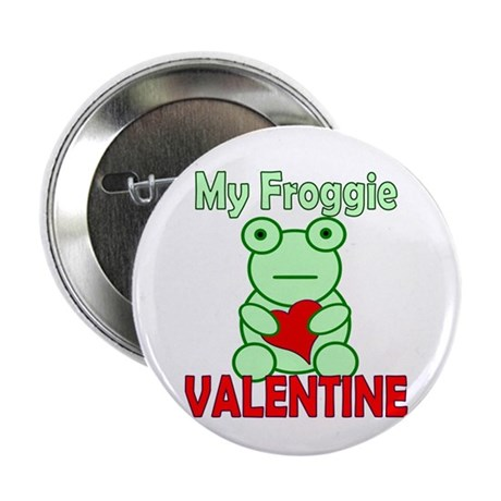 "Frog Valentine 2.25"" Button (10 pack)"