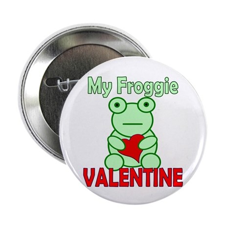 "Frog Valentine 2.25"" Button"