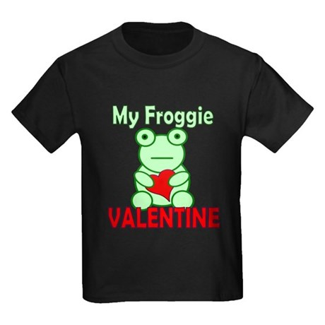 Frog Valentine Kids Dark T-Shirt