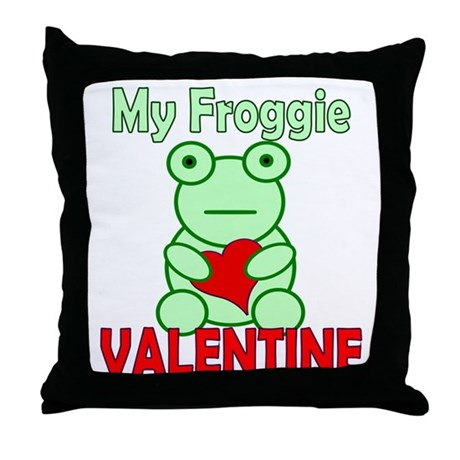 Frog Valentine Throw Pillow