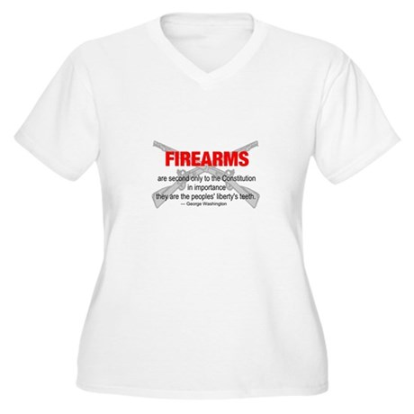 Anti Gun Control Women's Plus Size V-Neck T-Shirt
