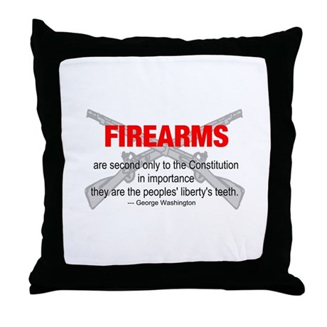 Anti Gun Control Throw Pillow