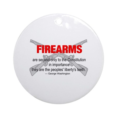 Anti Gun Control Ornament (Round)