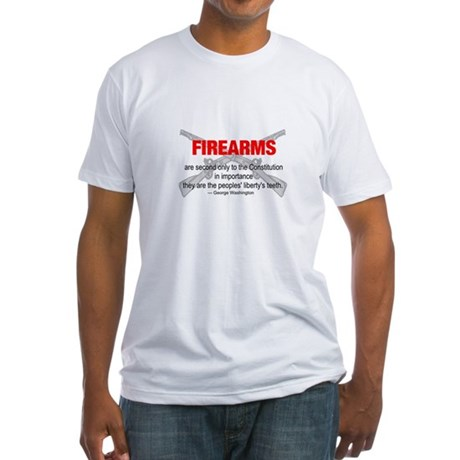 Anti Gun Control Fitted T-Shirt
