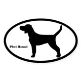 Plott Hound Silhouette Oval Decal
