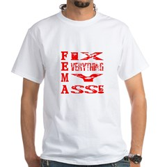 Anti FEMA White T-Shirt