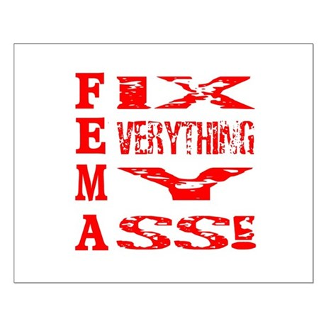 Anti FEMA Small Poster