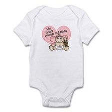 My Heart Belongs to MeMa GIRL Infant Bodysuit