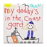"""Coast Guard Dad"" Series Tile Coaster"