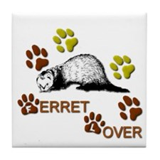 """Ferret Lover"" Tile Coaster"
