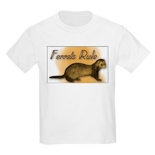 """Ferrets Rule"" Kids T-Shirt"