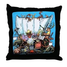 Funny Wild game dinner Throw Pillow