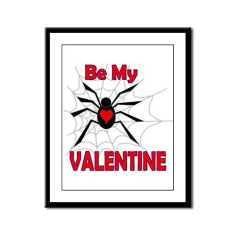 Spider Valentine Framed Panel Print