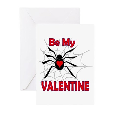 Spider Valentine Greeting Cards (Pk of 10)