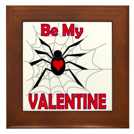 Spider Valentine Framed Tile