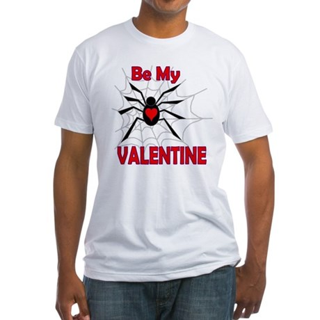 Spider Valentine Fitted T-Shirt