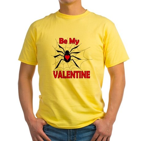 Spider Valentine Yellow T-Shirt