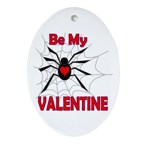Spider Valentine Oval Ornament