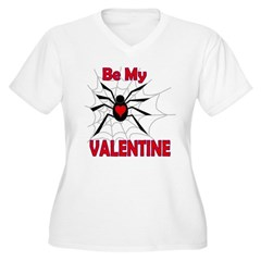 Spider Valentine Women's Plus Size V-Neck T-Shirt