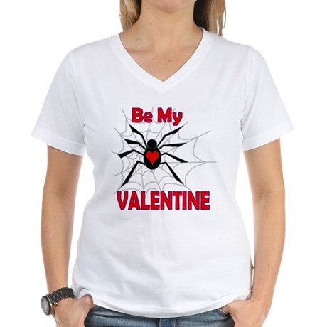 Spider Valentine Women's V-Neck T-Shirt