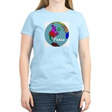 Peace on Earth Liberal Values Women's Pink T-Shirt