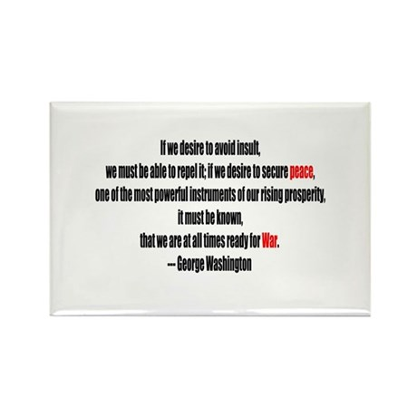 Peace and War Rectangle Magnet (100 pack)