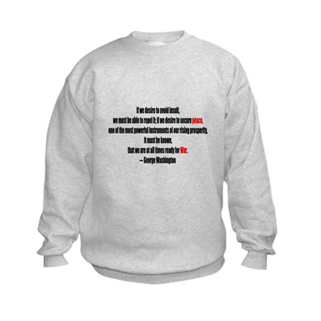 Peace and War Kids Sweatshirt
